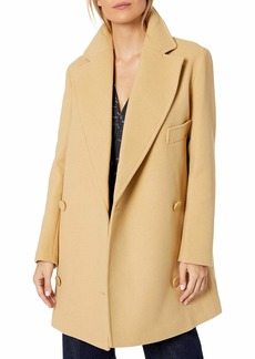 A|X Armani Exchange Women's Double Breasted Notched Collar Coat  XS
