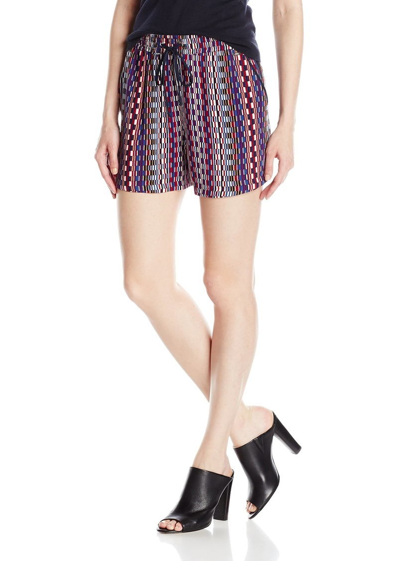 A|X Armani Exchange Women's Draw String Viscose Printed Woven Shorts