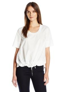 A|X Armani Exchange Women's Drawstring Bottom Poplin Shirt