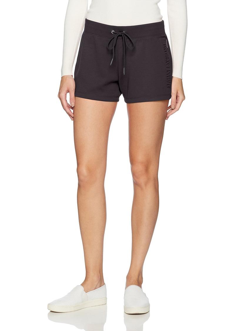 A|X Armani Exchange Women's Drawstring Fleece Shorts  XL
