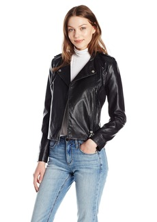 A|X Armani Exchange Women's Eco-Leather Moto Jacket
