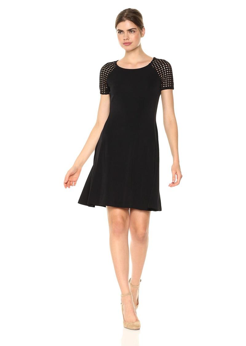 A|X Armani Exchange Women's Eyelet Shortsleeve Shirt Dress  S