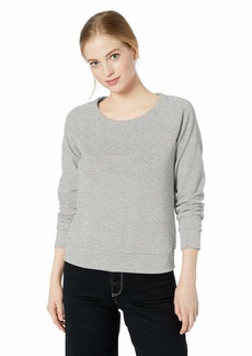 A X Armani Exchange Women's Faded Graphic Crew Neck Sweatshirt  S