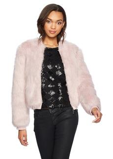 A X Armani Exchange Women's Faux Fur Zip Jacket  M