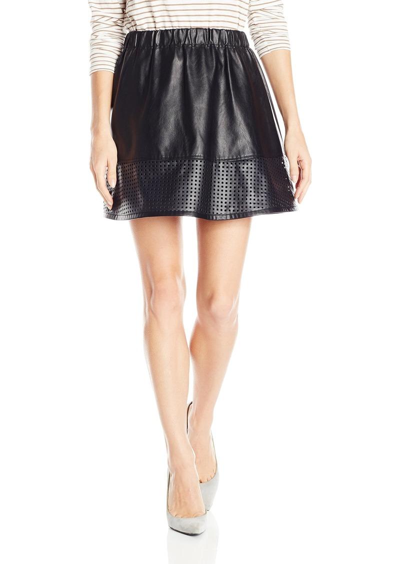A X Armani Exchange Women's Faux Leather Skirt