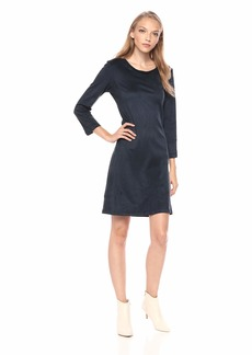 A|X Armani Exchange Women's Faux Suede Long Sleeve Dress  S