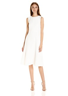 A|X Armani Exchange Women's Fit and Flare Midi Dress
