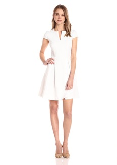 A|X Armani Exchange Women's Fit and Flare Short Sleeve Dress