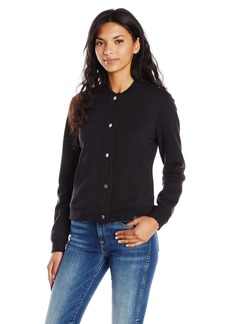 A|X Armani Exchange Women's French Terry Bomber Jacket with Lace Detail