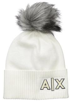 A|X Armani Exchange Women's High Rib Logo Hat