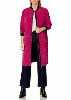 A|X Armani Exchange Women's Knee Length Coat Front and Zipper Pockets  L