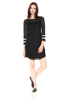 A|X Armani Exchange Women's Lace Jacquard Shirt Dress  M