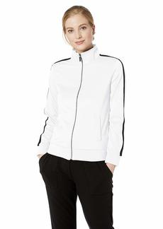 A X Armani Exchange Women's Logo Back Zip Up Sweatshirt  L