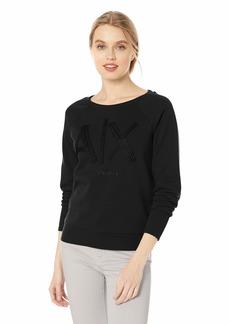 A X Armani Exchange Women's Logo Crew Neck Sweatshirt  L