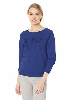 A X Armani Exchange Women's Logo Crew Neck Sweatshirt  XL