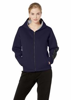A|X Armani Exchange Women's Logo Sleeve Zip Up Hoodie  M