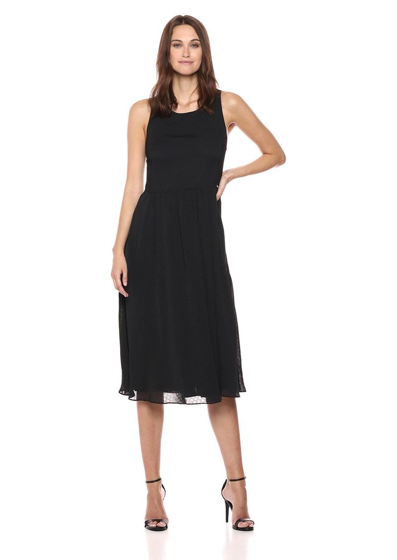 A|X Armani Exchange Women's Long Classic Dress with Jacquard Sides