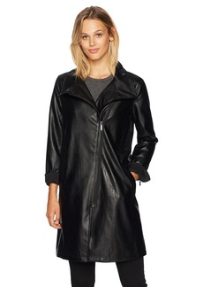 A|X Armani Exchange Women's Long Eco Leather Caban Coat  S