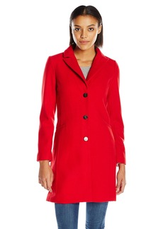 A|X Armani Exchange Women's Long Lapel Coat in Red