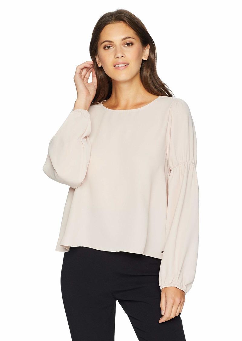A|X Armani Exchange Women's Long Sleeve Blouse pina Colada S