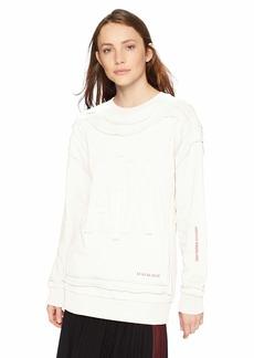 A|X Armani Exchange Women's Long Sleeve Brushed Fleece Sweatshirt  XS