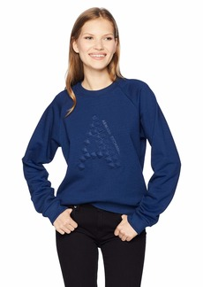 A X Armani Exchange Women's Long Sleeve Cotton Crew Neck Sweatshirt  L