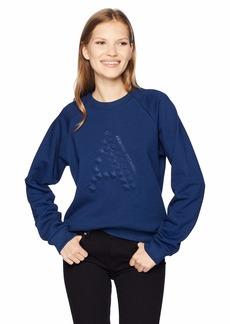 A|X Armani Exchange Women's Long Sleeve Cotton Crew Neck Sweatshirt  S