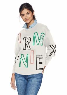 A X Armani Exchange Women's Long Sleeve Graphic Print Sweatshirt  M