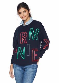 A|X Armani Exchange Women's Long Sleeve Graphic Print Sweatshirt  S