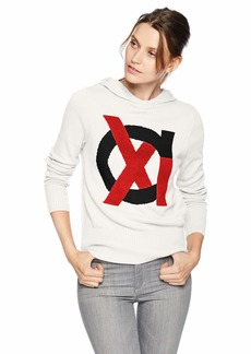 A|X Armani Exchange Women's Long Sleeve Hooded Pullover Sweater  M