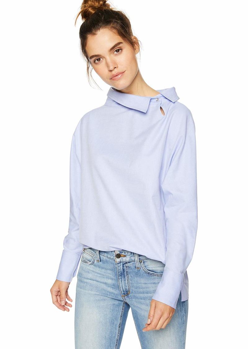 A|X Armani Exchange Women's Long Sleeve Oxford Blouse  XL