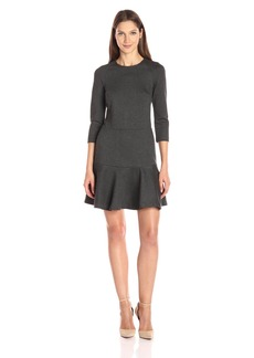 A|X Armani Exchange Women's Long Sleeve Pique Dress