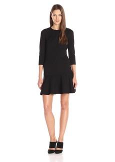 A|X Armani Exchange Women's Long Sleeve Pique Dress