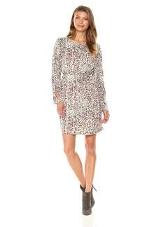 A|X Armani Exchange Women's Long Sleeve Tie Shift Dress