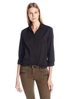 A X Armani Exchange Women's Long Sleeve Woven Top