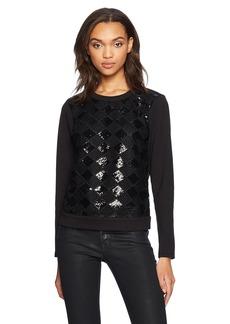 A X Armani Exchange Women's Longsleeve Diamond Sequin Sweatshirt  M