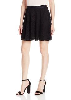 A|X Armani Exchange Women's Macrame Lace Woven Skirt