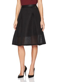 A|X Armani Exchange Women's Mesh Overlay Flare Skirt