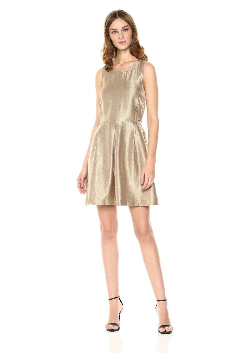 A|X Armani Exchange Women's Metallic Cut-Out Back Dress
