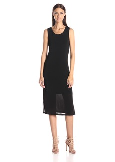 A|X Armani Exchange Women's Midi Sleeveless Slip Dress