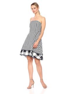 A|X Armani Exchange Women's Mixed Plaid Cami Dress