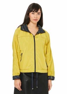 A X Armani Exchange Women's Nylon Zipper Front Jacket  XS