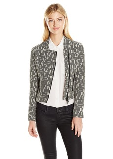 A|X Armani Exchange Women's Patterned Jacket