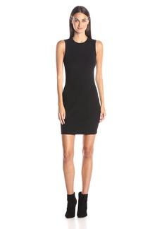 A|X Armani Exchange Women's Pique Bodycon Sleeveless Dress