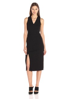 A|X Armani Exchange Women's Pique Sleeveless Midi Dress