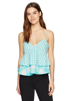 A|X Armani Exchange Women's Plaid Peplum Cami  M