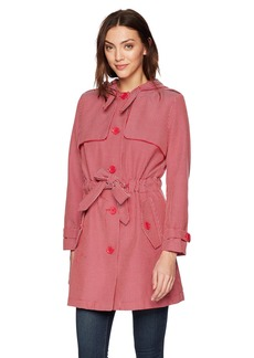 A|X Armani Exchange Women's Plaid Trench Coat  S