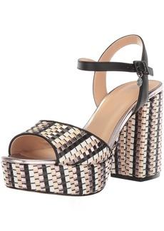 A|X Armani Exchange Women's Plaited Strappy Heel Heeled Sandal Black  Medium US