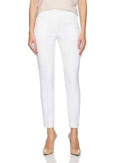 A X Armani Exchange Women's Poly/Viscose Basic Front Zip Woven Trouser