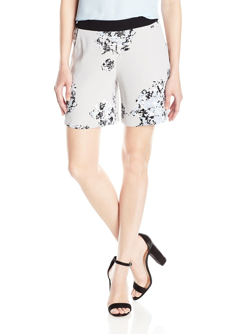 A|X Armani Exchange Women's  Printed Poly Twill Shorts